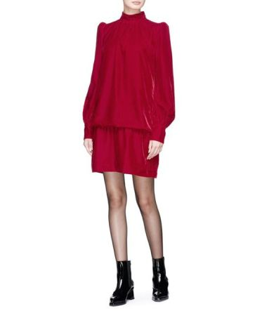 marc-jacobs-Red-Puff-Shoulder-Velvet-Dress[1]
