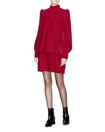 marc-jacobs-Red-Puff-Shoulder-Velvet-Dress[1]