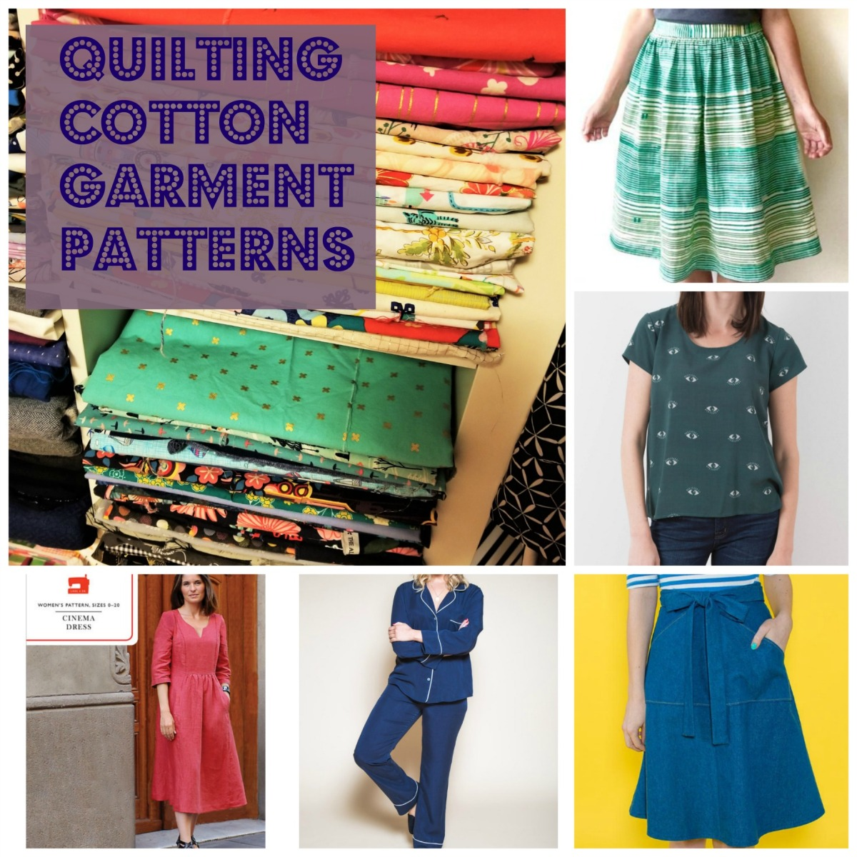 Indie garment patterns that use quilting cotton   Belle Citadel