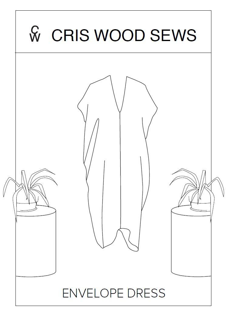 Envelope dress line drawing